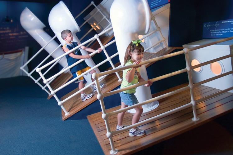 Titanic Branson interactive sloping decks