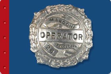 Titanic Branson Education Guide - Marconi badge