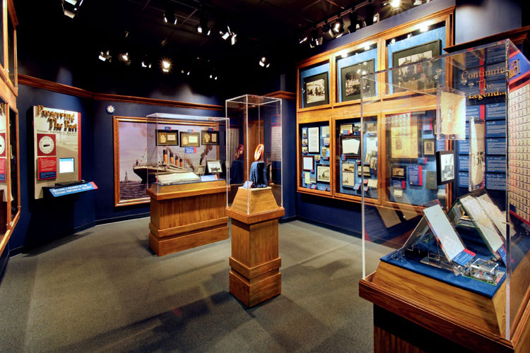 Displays at the Titanic Museum Attraction in Branson