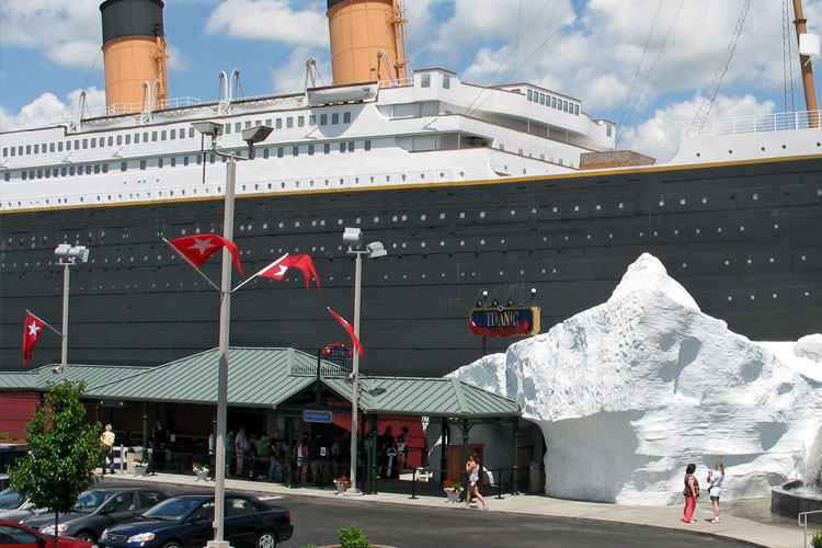 Ship Exterior at the Titanic Museum Attraction in Branson