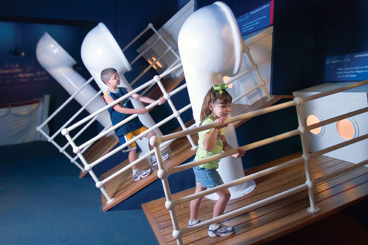Titanic Branson interactive Display - Kids Sloping Decks