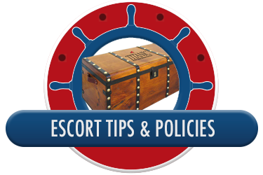 Titanic Branson Group Sales - Escort Tips and Policies