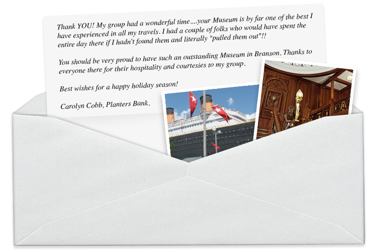 Titanic Branson Group Sales Letter