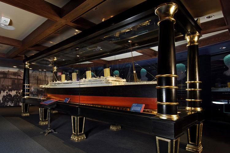 Ship Model at Titanic Branson