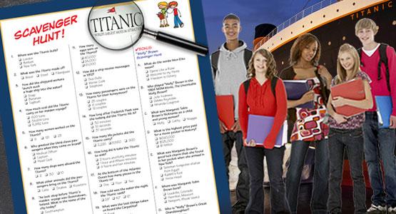 Titanic Branson Education Guide - Scavenger Hunt
