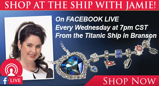 Shop at the Ship with JAMIE! On FACEBOOK LIVE Every Wednesday at 7pm CST From the Titanic Ship in Branson.