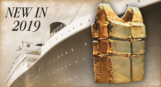 2019 World Exclusive. The World's Largest Collection of Last Remaining RMS Titanic Lifejackets Ever Seen.