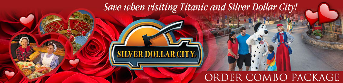 Save when visiting Titanic and Silver Dollar City in Branson, MO. Order combo package.