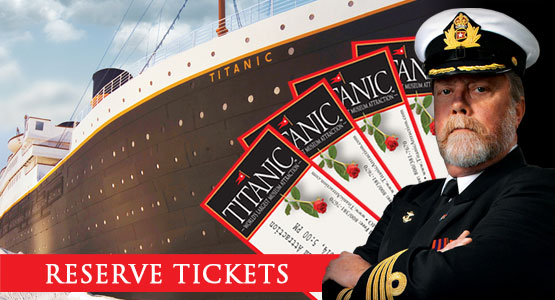 Titanic Branson Reopened. Reservations Required. 800-381-7670.