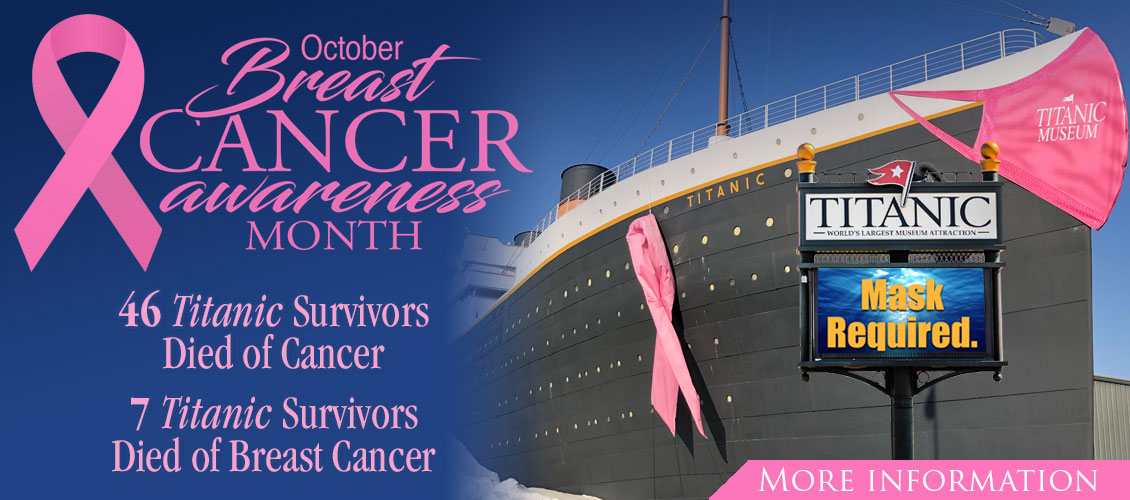 October is Breast Cancer Awareness Month at Titanic Branson.