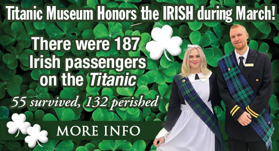 The entire Month of March is an Irish Celebration at Titanic Branson!
