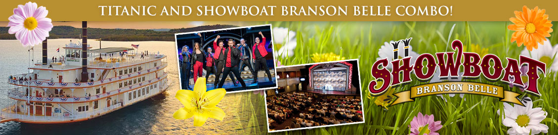 Save when visiting Titanic and Showboat Branson Belle in Branson, MO. Order combo package.