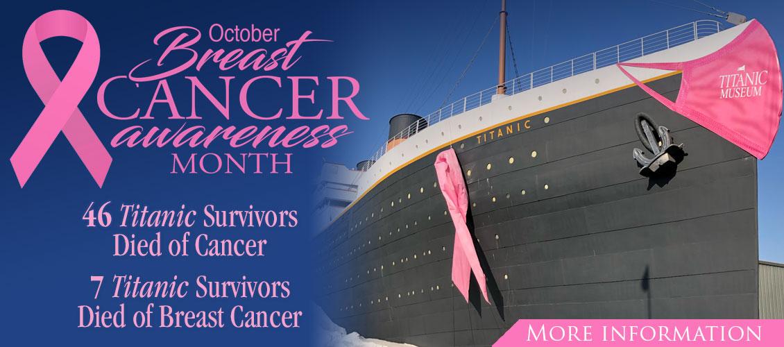 Titanic Branson Breast Cancer Awareness in October.